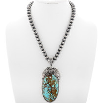 Number 8 Turquoise Pendant Necklace 39171