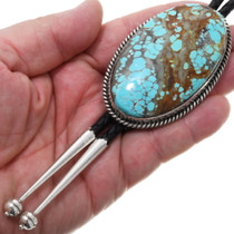 Authentic High Grade Number 8 Turquoise Bolo Tie 39179
