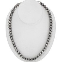 Navajo Sterling Bench Bead Necklace 39195
