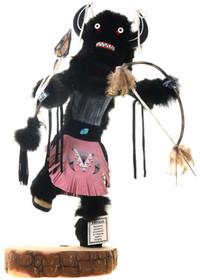 Large Black Buffalo Kachina Doll 39206