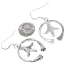 Native American Sterling Silver French Hook Earrings 39208