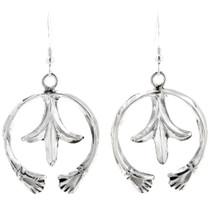 Sterling Silver Navajo Naja Earrings 39208
