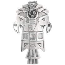 Sterling Silver Kachina Ring 39209