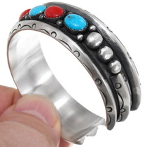Native American Sterling Silver Turquoise Bracelet 39213