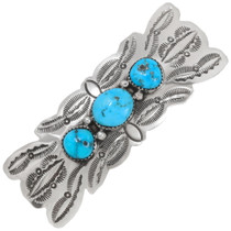Three Stone Turquoise Hair Barrette 39217