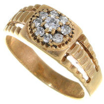 Vintage Diamond 14K Gold Mens Ring 39220