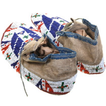 Circa 1890s Authentic Sioux Tribe Moccasins 39222