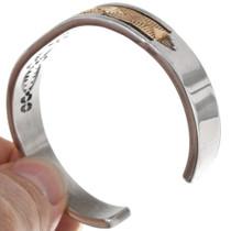 Navajo Made Silver Gold Bracelet 39224