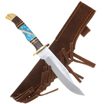 Turquoise Handle Inlay Ironwood Mini Skinner Knife 39227