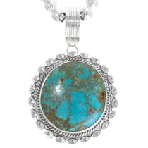 Number 8 Turquoise Navajo Pendant 39232