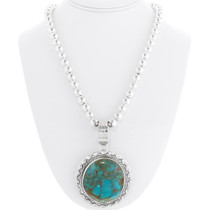 Sterling Silver Turquoise Pendant 39232