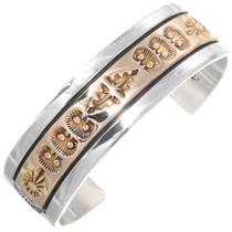 Vintage 14K Gold Silver Apache Cuff Bracelet 39233