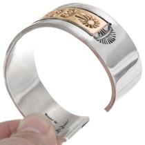 Native American Sterling Silver Gold Bracelet 39233