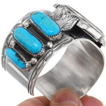 Vintage Sleeping Beauty Turquoise Watch Bracelet 39235