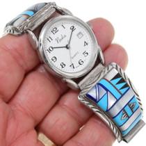 Geometric Pattern Shell Turquoise Watch 39236