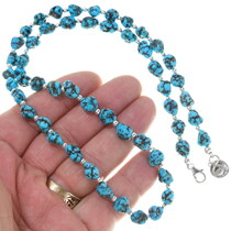 Kingman Turquoise Nugget Bead Necklace 39242