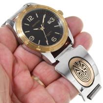 Man in the Maze Symbol Gold Watch 39244
