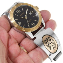 Man in the Maze Symbol Gold Watch 39244