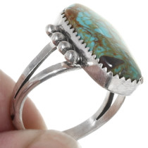 Sterling Silver Number 8 Turquoise Ring 39246
