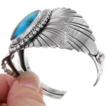 Navajo Design Silver Rays Ithaca Peak Turquoise 23910