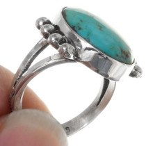 Sterling Silver Navajo Made Turquoise Ring 39249