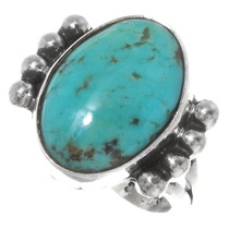 Top Grade Turquoise Silver Ladies Ring 39249