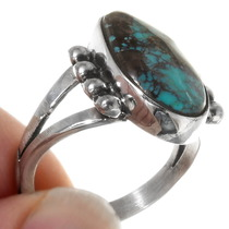 Sterling Silver Turquoise Navajo Ring 39250