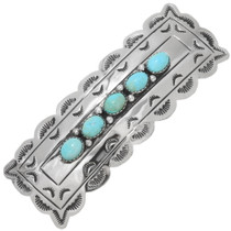 Navajo Sleeping Beauty Turquoise Hair Barrette 39257