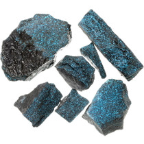 Pyrite Matrix Lander Blue Turquoise Rough 35547