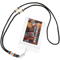 Native American Seed Bead Badge Lanyard 39267