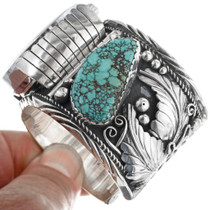 Navajo Made Turquoise Watch Bracelet 33205