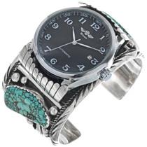 Vintage Spiderweb Turquoise Watch Cuff 33205