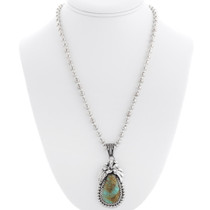 Sterling Silver Natural Turquoise Pendant 39270