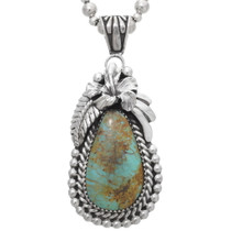 Natural Royston Turquoise Pendant  39270