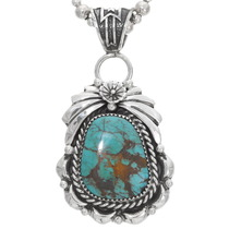 Sterling Silver Turquoise Pendant 29434