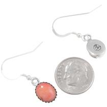 Navajo Pink Coral French Hook Earrings 39274
