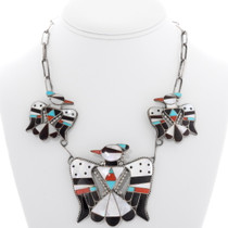 Vintage Zuni Thunderbird Necklace 39278
