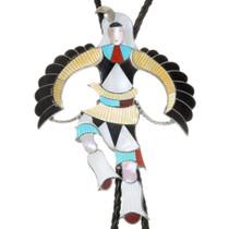 Old Pawn Zuni Eagle Dancer Bolo Tie 39279