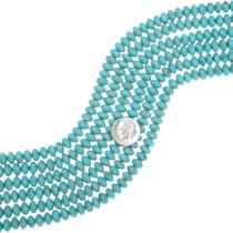 Kingman Turquoise Rondelle Beads 37042