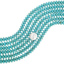 Turquoise Rondelle Beads 37043