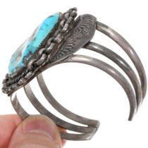 Navajo Sterling Silver Vintage Turquoise Cuff Bracelet 39280