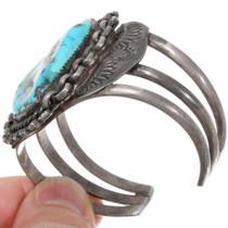 Navajo Sterling Silver Vintage Turquoise Cuff Bracelet 39280