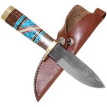 Turquoise Inlay Handle Navajo Knife 39288
