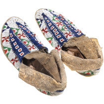 Native American Moccasins Late 19th Century 39289