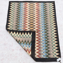 Traditional Serrated Diamond Design Navajo Rug 39291