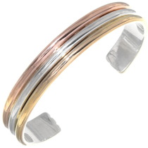 Silver 14KGF Navajo Cuff Bracelet 39293