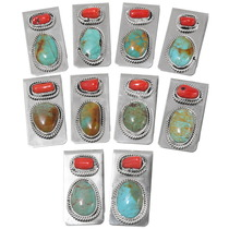 Turquoise Coral Silver Money Clips 39297