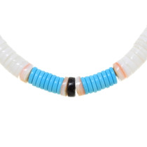 Heishi Shell Turquoise Beaded Necklace 39298