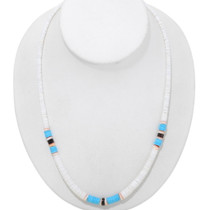 Navajo Turquoise Shell Heishi Necklace 39298