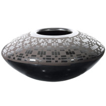 Black Mata Ortiz Saucer Pot 39300